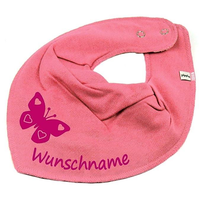 Babero de mariposa con nombre o texto personalizable para ...