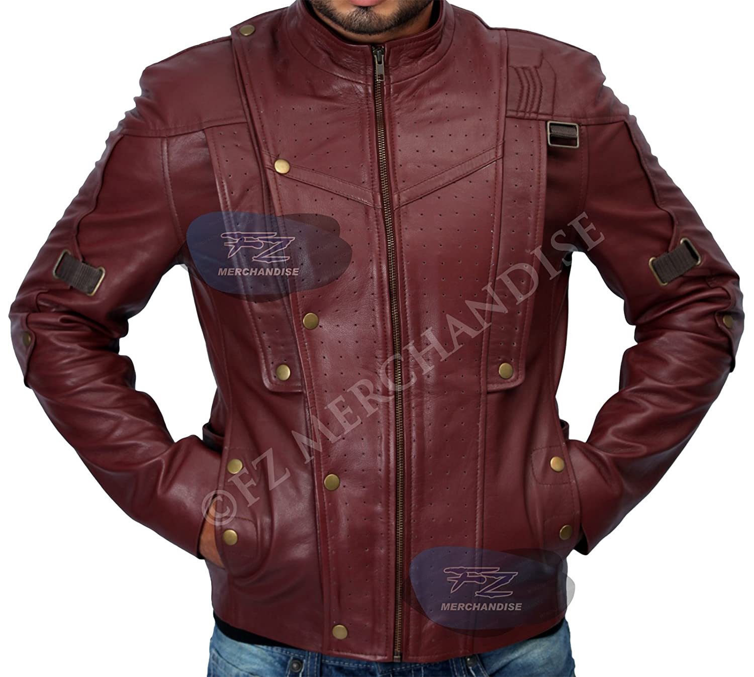 Guardians Of The Galaxy Chris Pratt Real Leather Jacket