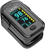 Pulse Oximeter Fingertip, Blood Oxygen Saturation Monitor for Pulse Rate, Heart Rate Monitor and SpO2 Levels with LED…