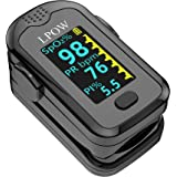 Pulse Oximeter Fingertip, Blood Oxygen Saturation Monitor for Pulse Rate, Heart Rate Monitor and SpO2 Levels with LED Screen