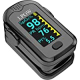 Pulse Oximeter Fingertip, Blood Oxygen Saturation Monitor for Pulse Rate, Heart Rate Monitor and SpO2 Levels with OLED…