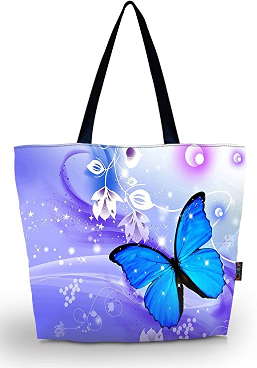 Travel Luggage Duffle Bag Lightweight Portable Handbag Lavender Butterfly Print Large Capacity Waterproof Foldable Storage Tote