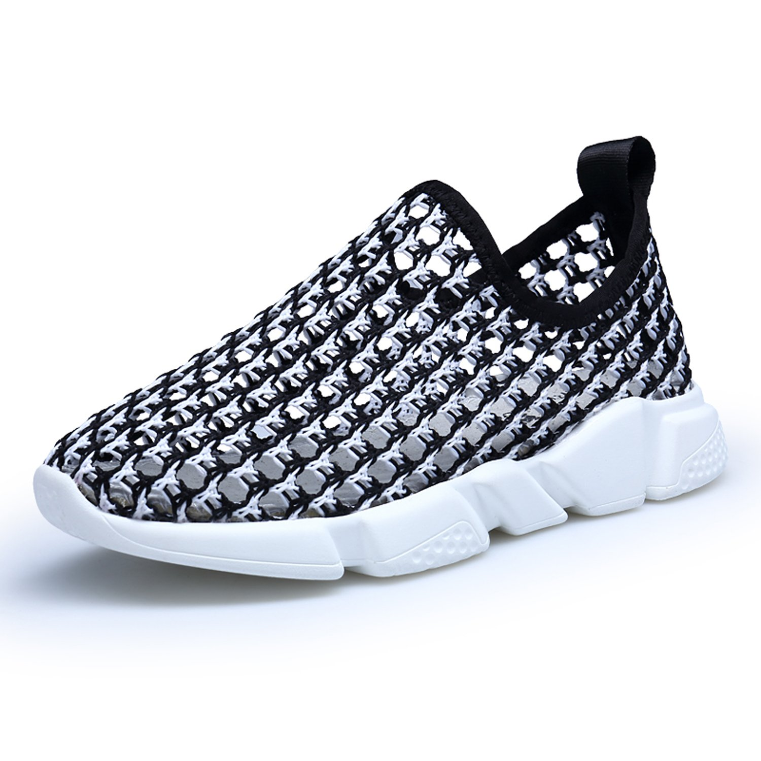 OUYAJI spring and summer hollow breathable mesh children's shoes parent-child shoes casual shoes sports shoes running shoes BLACK 28