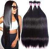 10A Brazilian Hair 3 Bundles Straight Human Hair Bundles 10 12 14inch Grace Length Hair Unprocessed Virgin Brazilian Straight Human Hair Weave