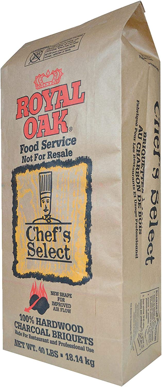Royal Oak Chef's Select Premium Hardwood Lump Charcoal Briquettes for Grills and Smokers, 40 Pounds