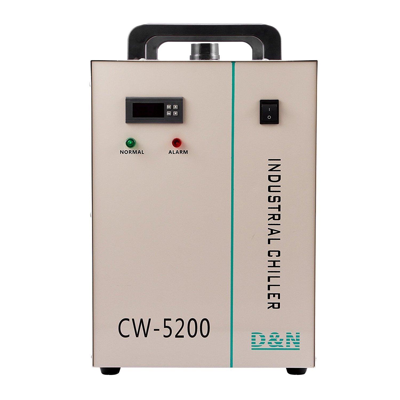 Autovictoria Water Chiller 6L Enfriador de Agua Industrial 10L / min Enfriador de Agua Enfriador 1400W Enfriador de Refrigeración por Agua 130 / 150W Tubo ...