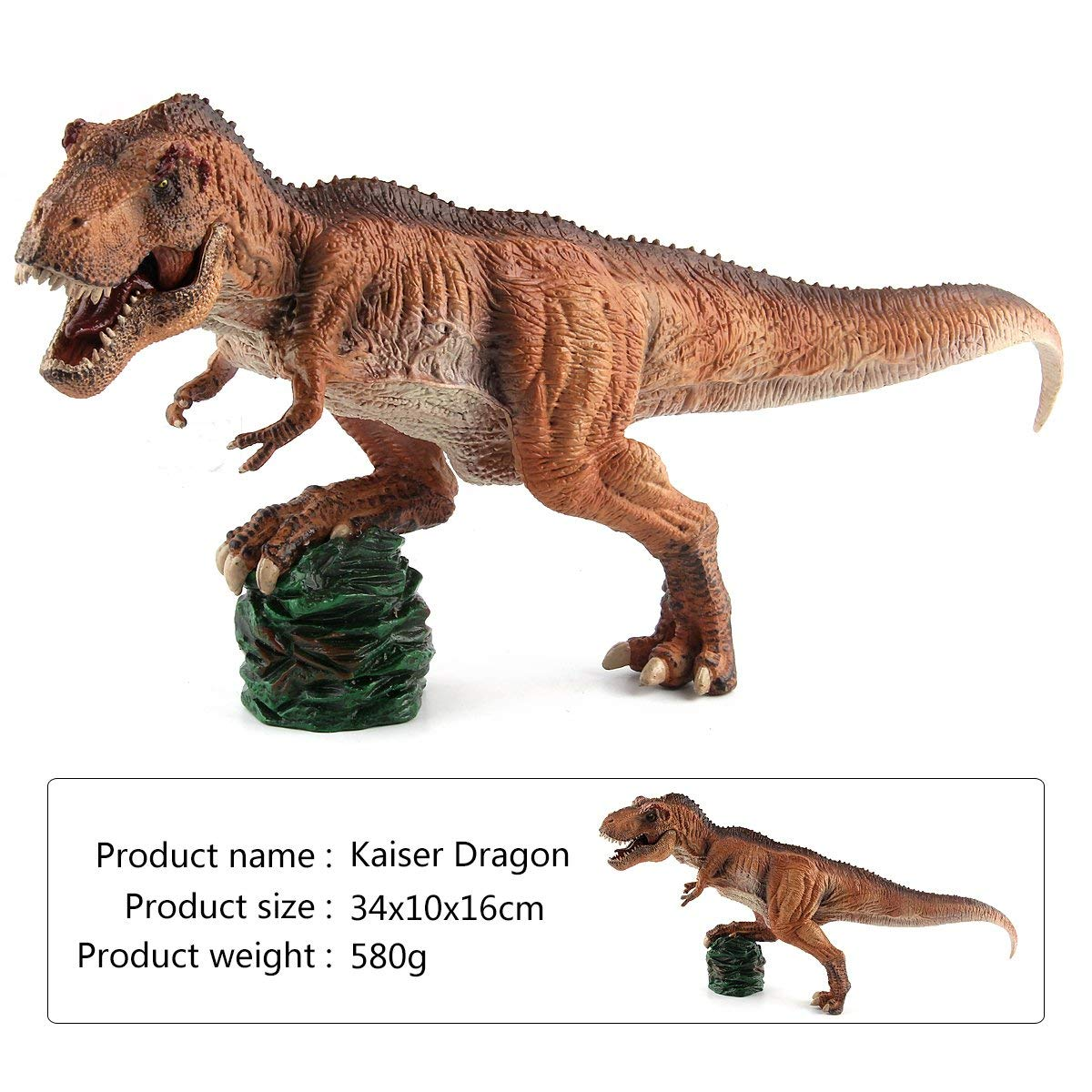 "CEKtoys Dinosaur Figures King T-Rex 13.5"" Realistic Detailed Dinosaur Toys For Kids Great Gifts and Party Favor"