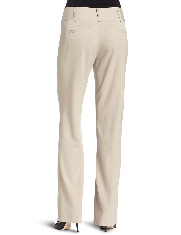Rafaella Womens Solid Classic Fit Pant Khaki 8 The Rafaella Group RS08982 B0047O3USO