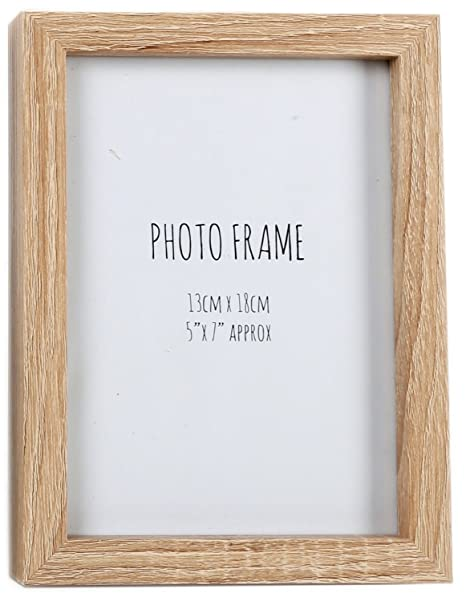 Simple Wooden Box Style Single Photo Frame Freestanding Portrait Or