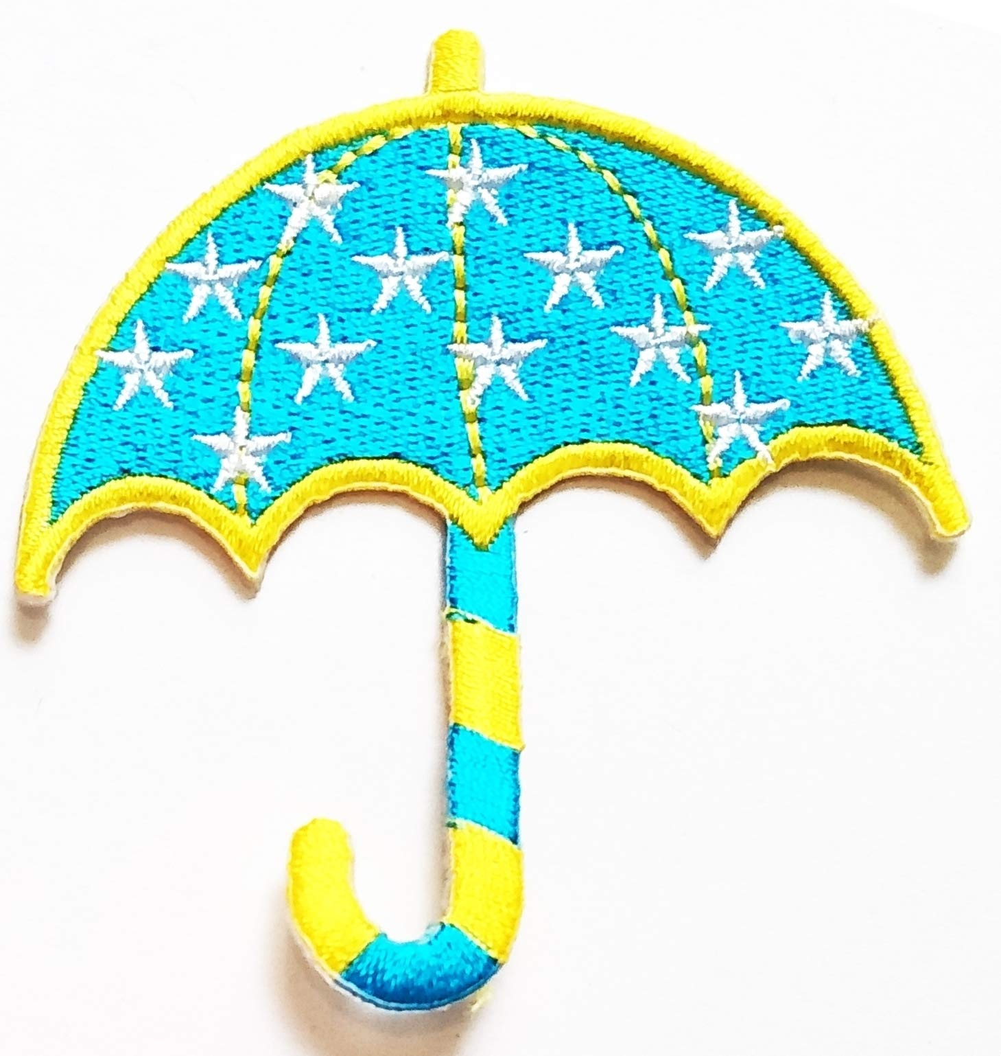 Nipitshop Patches Beautiful Blue Umbrella Stars