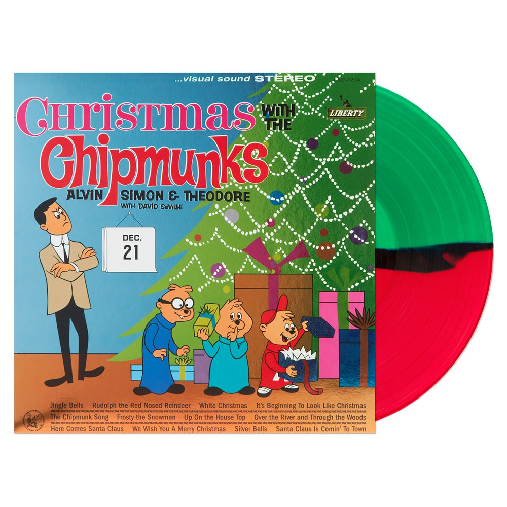 Alvin & the Chipmunks - Christmas With The Chipmunks Red & Green ...