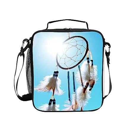 43abeef9ea76 Amazon.com - Levendem Feather with Sunny Sky Handy Portable Zipper ...