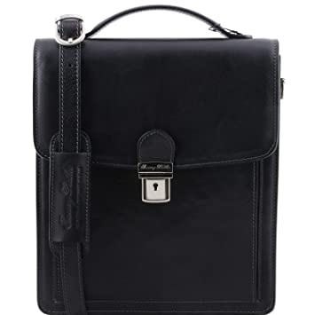 e60e18e561b0 Amazon.com  Tuscany Leather David Leather Crossbody Bag - large size Black   Fendess.