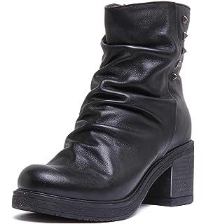 Justin Reece Women Snake Print Leather Chelsea Boot In Black Size UK 3-8
