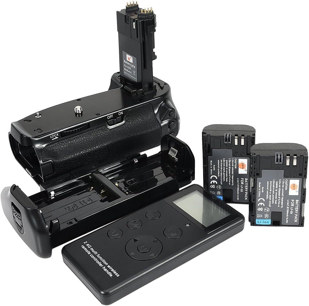 DSTE® Pro Batería Apretón Built in 2.4G Wireless Remote Control Compatible con Canon EOS 6D Mark II as BG-E21 + 2X LP-E6 Battery: Amazon.es: Electrónica
