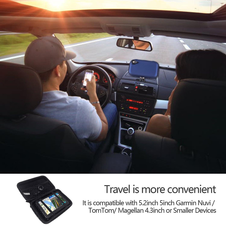Joystar.LTD 5 Inch GPS Case GPS Carrying Case Hard Shell Case for Garmin Drive 50 Garmin n/üvi 2555LMT Drive Smart 50 57LM 2595 LMT 2539LMT 1490LMT 1450LMT Tomtom Vehicle GPS Navigator and Accessories Blue