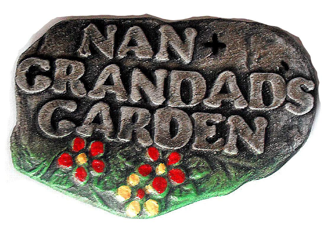 ClassCast Nan & Grandad's Garden. Grandparents gift. resin wall Plaque. Garden ornament sign. Garden sign.