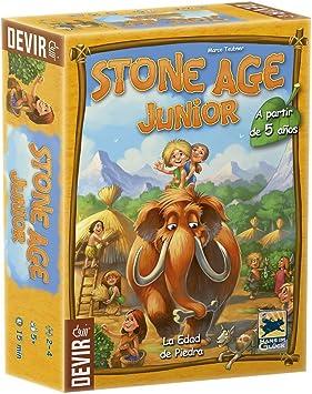 Devir Stone Age Junior Juego de Mesa, Multicolor, Miscelanea ...