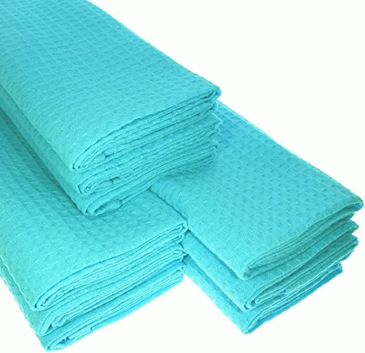 9 x paños 100% algodón Suela de piqué en turquesa paños de cocina Paño de limpieza: Amazon.es: Hogar