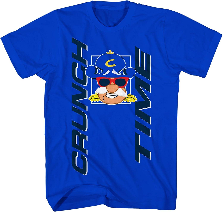 Captain Crunch Mens Cap'n Crunch Cereal Shirt Crunch Time Tee Shirt - Cap'n Crunch Graphic T-Shirt