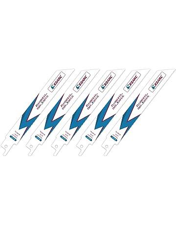 EZARC Hojas de sierra sable R622PT para Corte de delgado metales 18TPI 150mm (pack de