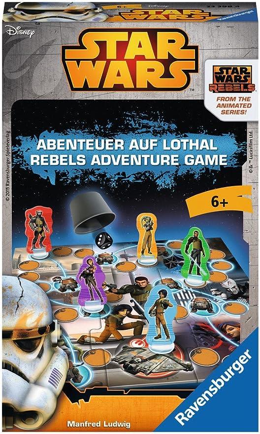 Ravensburger Star Wars Rebels: Rebels Adventure Game Niños Viajes/Aventuras - Juego de Tablero (Viajes/Aventuras, Niños, 15 min, Niño/niña, 6 año(s), Multicolor): Amazon.es: Juguetes y juegos