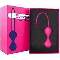 ❤ [Innocente®] - Boules de Geisha / Kegel - Jouet Intime pour Femme en Silicone pour Jeux coquins et rééducation du périnée