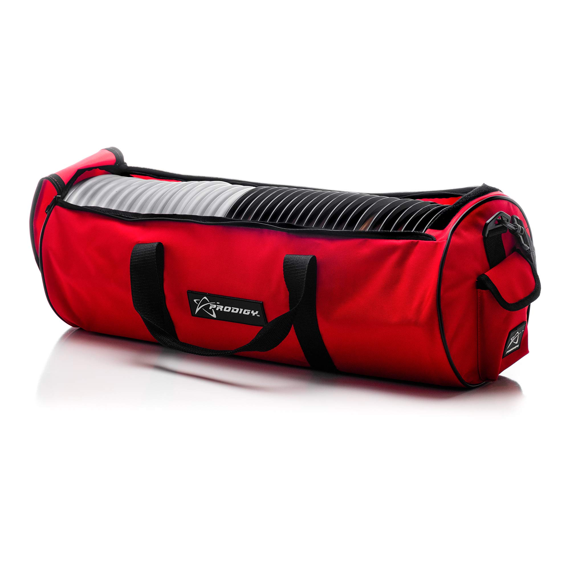 Prodigy Disc Practice Bag V2 - Disc Golf Bag - 30-45 Discs - Stay Organized for Travel or Field Work (Red)