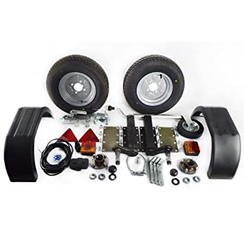 AB Tools 750 Kg Remolque Unidades de suspensión Kit de Guardabarros Luces del Enganche de Remolque Ruedas de Cable de 5m: Amazon.es: Coche y moto