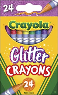 product image for Crayola Glitter Crayons, Back To School Supplies, 24Count, Multi