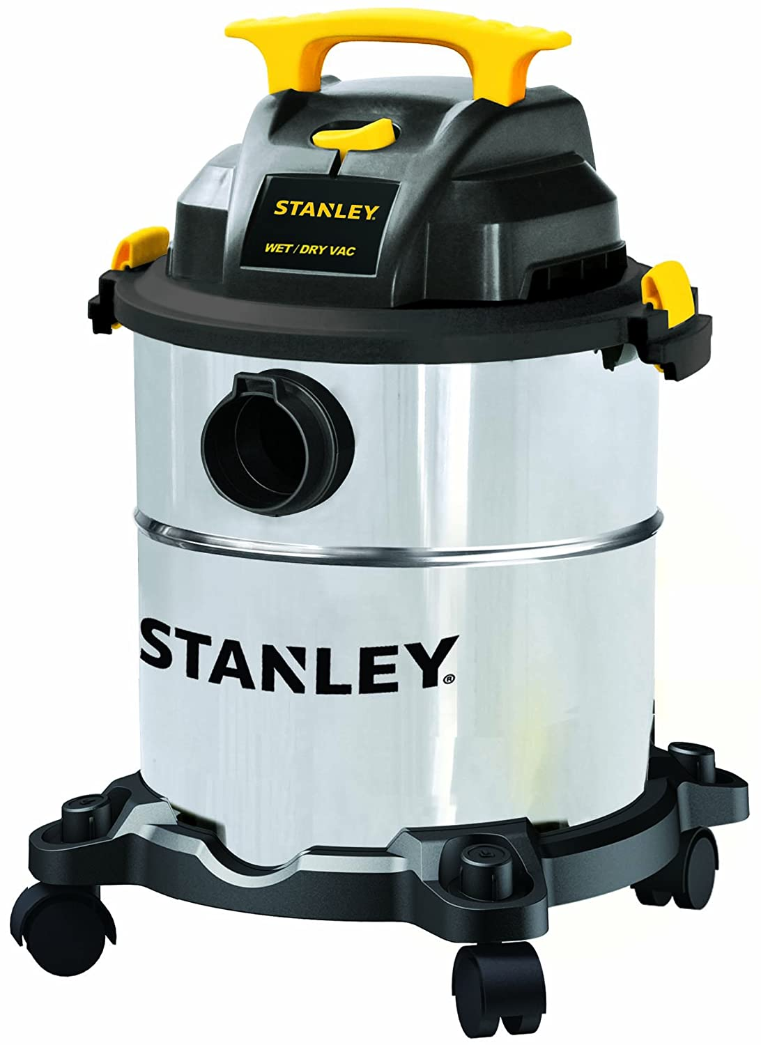 Stanley Wet/Dry Vacuum, 6 Gallon, 4 Horsepower, Stainless Steel Tank