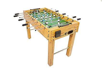 Futbolín de Mesa Glasgow con Juego de Accesorios, 2 portavasos, pies Regulables en Altura