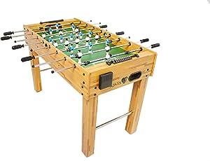 Futbolín de Mesa Glasgow con Juego de Accesorios, 2 portavasos, pies Regulables en Altura, Campos de Juego Perfectamente levantados, Patada de Mesa, Kicker, futbolín: Amazon.es: Juguetes y juegos