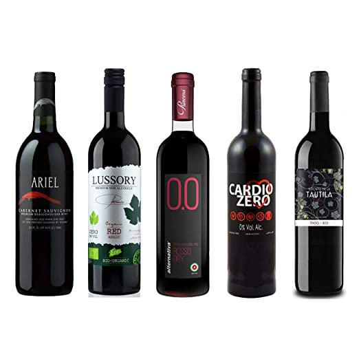 Red Wine Sampler 5 Non Alcoholic Wines 750ml Each Ariel Cabernet Sauvignon Cardio Zero Red Rosso Dry And Tautila Tinto Amazon Com Grocery Gourmet Food