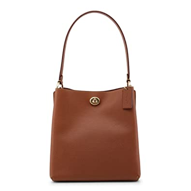 Amazon.com: COACH Womens Polished Pebble Leather Charlie ...