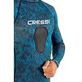 Cressi Hooded Rash Guard, Blue Hunter, X-Large