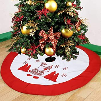 Falda arbol navidad,Falda Decoración Papá Noel copo de nieve Árbol ...