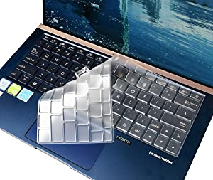 Clear TPU Keyboard Cover Skin for ASUS Zenbook 13 UX333FA 13.3 Inch Ultra-Slim Laptop Keyboard Cover Protector for ASUS Zenbook 13 UX333FA Accessories, US Layout