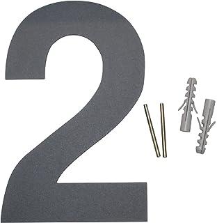 Moderne Hausnummern Edelstahl thorwa design edelstahl hausnummer 0 anthrazit beschichtet inkl