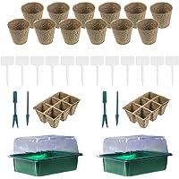 Mini-serre Serre Lot de 60semis Pots et 20plantes schildern Serre Pots