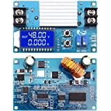 WHDTS 5A Boost Converter LCD Display, DC 11V-50V Step Up Power Supply Module Adjustable Boost Adapter CVCC Constant Coltage Constant Current Converter with Shell