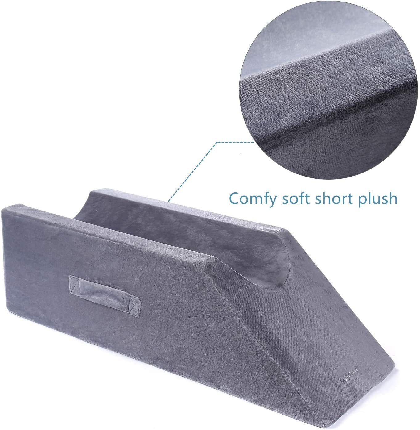 LightEase Memory Foam Leg, Knee, Ankle Support and Elevation Leg Pillow for Surgery: Home & Kitchen