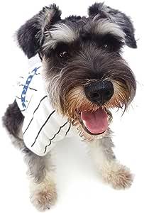 Bomate Ropa para Cachorros Perres Gatos Rayas Ropa y Accesorios Abrigos y Chaquetas(S,Blanco)