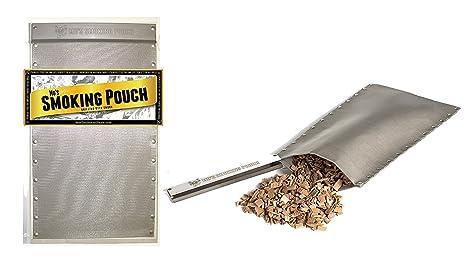 Acero inoxidable Barbacoa Bolsa de tabaco para la parrilla - barbacoa fumador caja alternativa: Amazon.es: Jardín