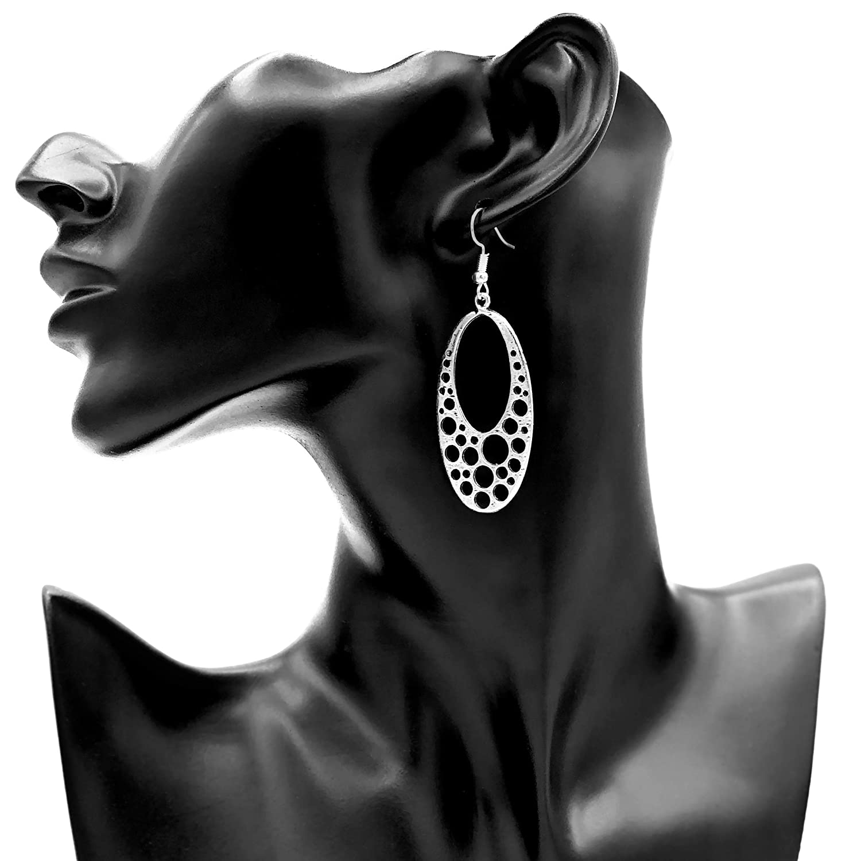 Ohrringe AMOA Ohrhaken versilbert keltischer Anh/änger antik versilbert Ohrh/änger H/ängeohrringe Muster Design Damen