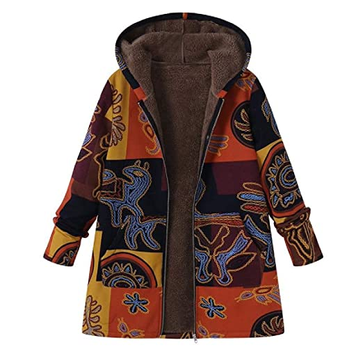 620acfc69 Amazon.com: Ethnic Jacket Plus Size - Winter Casual Retro Ethnic ...