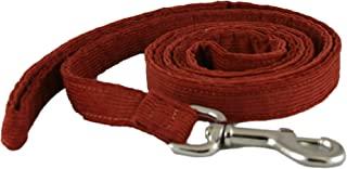 product image for The Good Dog Company Hemp Corduroy Leash - 6 ft (1 Inch Width, Rust)