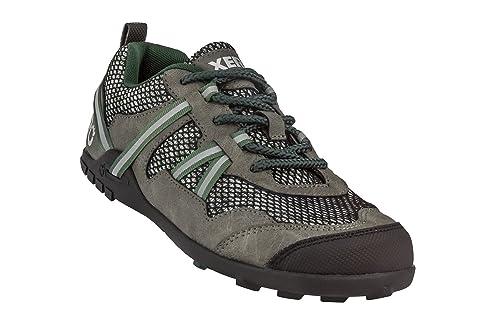 Xero Shoes TerraFlex Trail Running Hiking Shoe - Minimalist Zero-Drop Lightweight Barefoot-Inspired - Men, Forest Green, 8.5 D(M) US