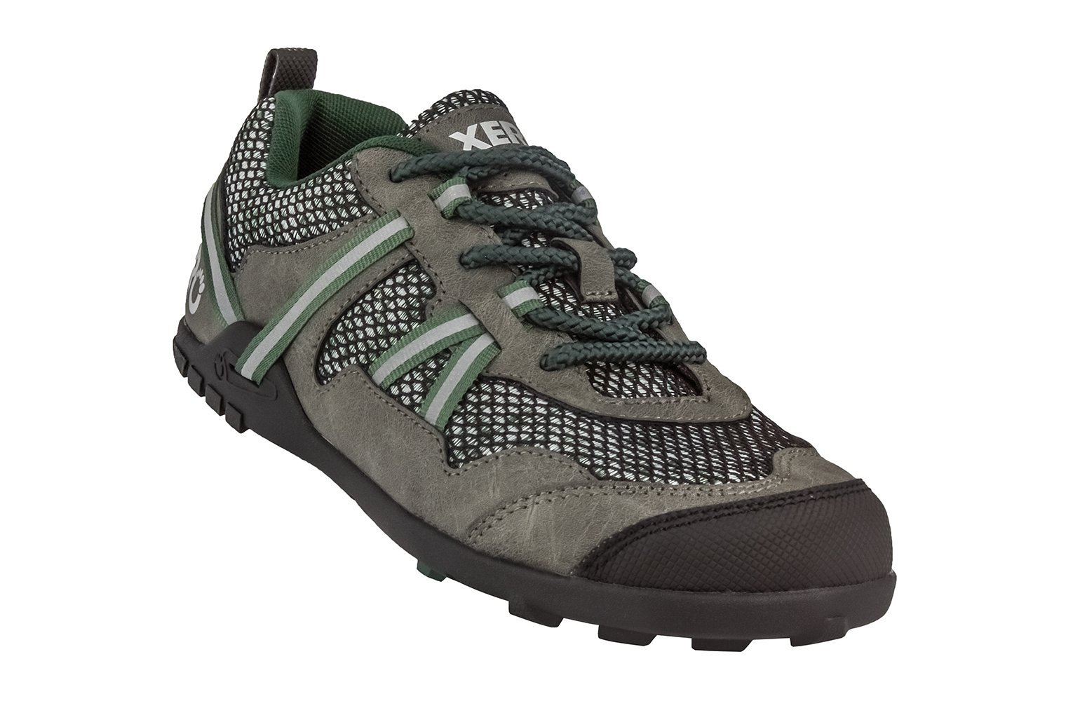 Xero Shoes TerraFlex Trail Running Hiking Shoe - Minimalist Zero-Drop Lightweight Barefoot-Inspired - Men, Forest Green, 11.5 D(M) US