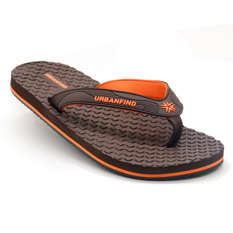 URBANFIND Men's Classic Flip Flops Summer Light Weight Shower Sandals Acupressure FKX010
